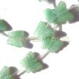 AVENTURINE GEMSTONE BEADS - CARVED BUTTERFLY BEADS 16X13MM